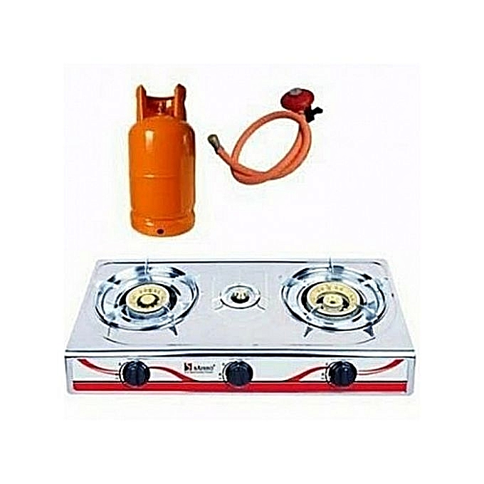 3 burner with gas cooker 12.5kg with gas cooker universal regulator | Horezone