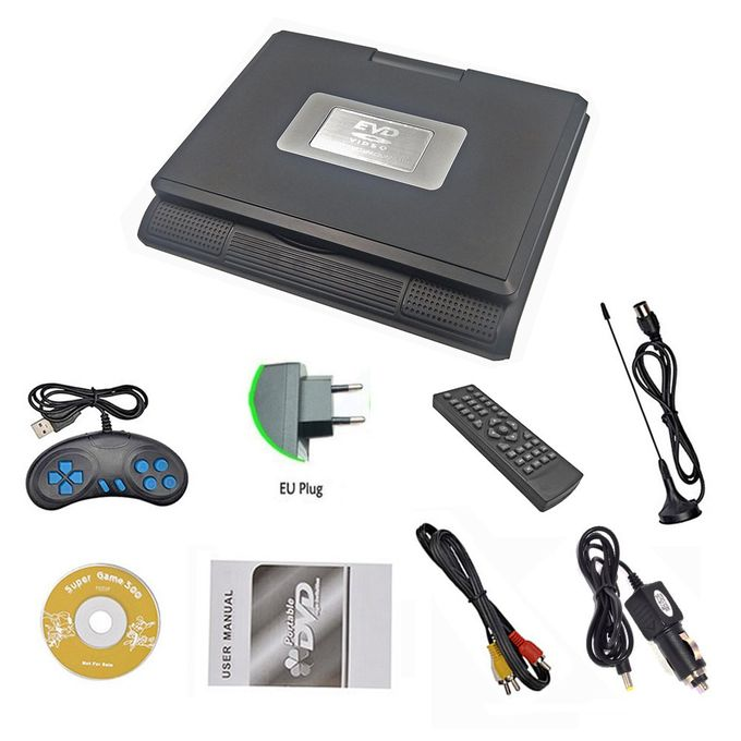 7.8 Inch HD TV Portable DVD Player CD Player Multimedia Black