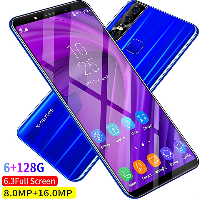 Bobarry X27 Plus 6.3 Inch Android 9.1 6GB Ram+128GB Rom HD Full Screen 8 Core Fingerprint Recognition | Horezone