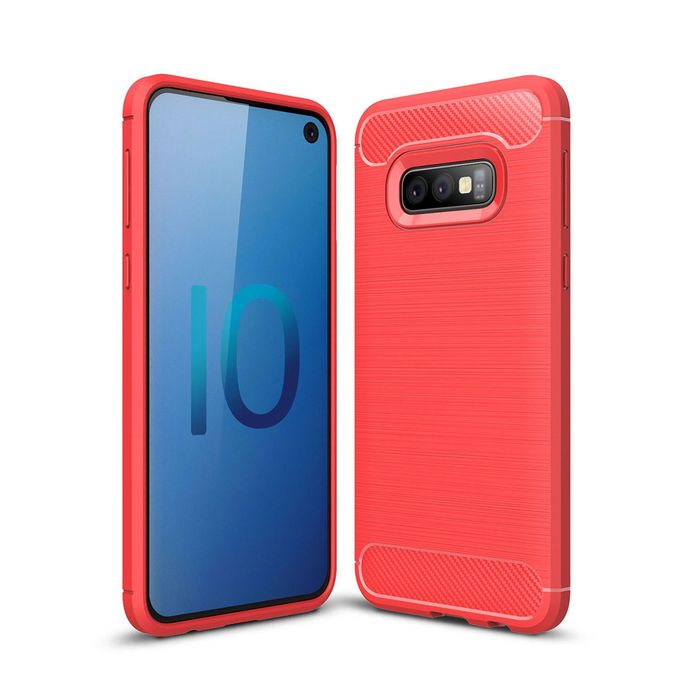 Brushed Texture Carbon Fiber TPU Case For Galaxy S10e