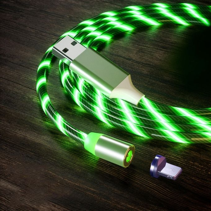 Cable Fast Charging USB Type C Cable Cable LED Lighting USB Micro Charger Cable
