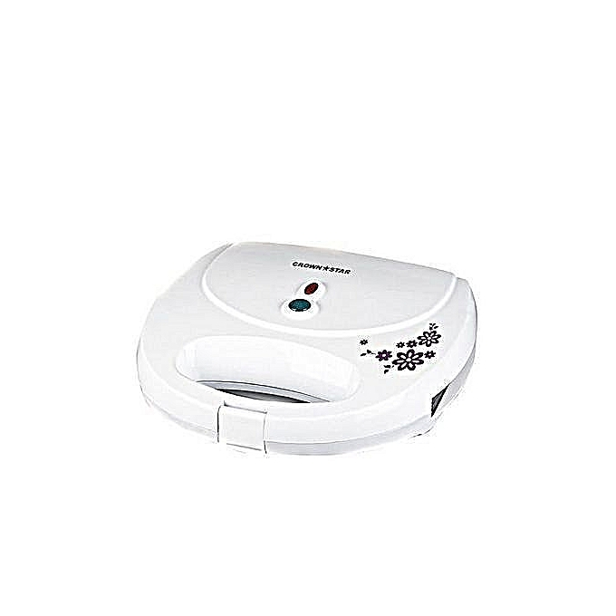 crownstar sandwich maker 2 white | Horezone