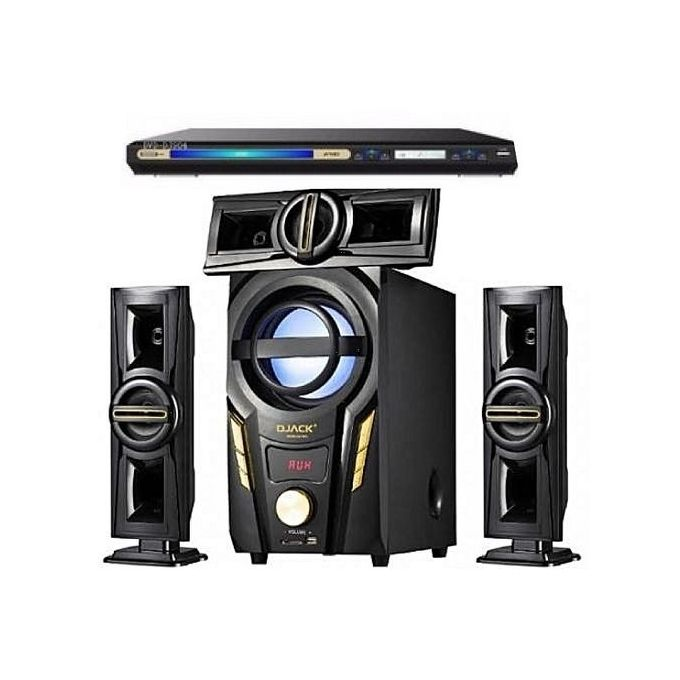 Djack Heavy Duty 3.1CH Bluetooth Home Theatre System DJ-703A + DVD Player