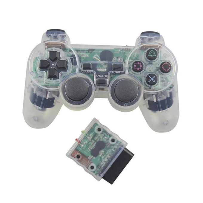 EastVita Transparent Color Wireless Gamepad For Sony PS2 2.4G Vibration Joystick Blutooth Controller For Playstation 2 Joypad | Horezone