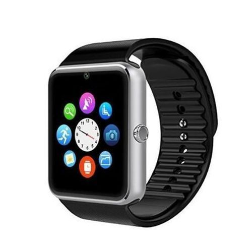 GT08 Bluetooth Smart Watch For Apple IPhone IOS Android Phone Wrist Wear Support Sync Smart Clock Sim Card_Silver - Horezone