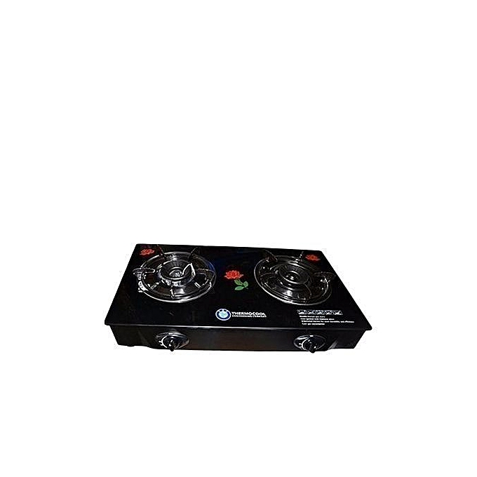 Haier Thermocool 2 Burner Glass Lid Table Top Gas Cooker