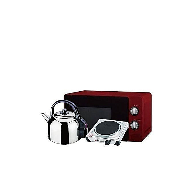 hisense microwave oven with girlls 20ltrs electric kettle with hot plate | Horezone
