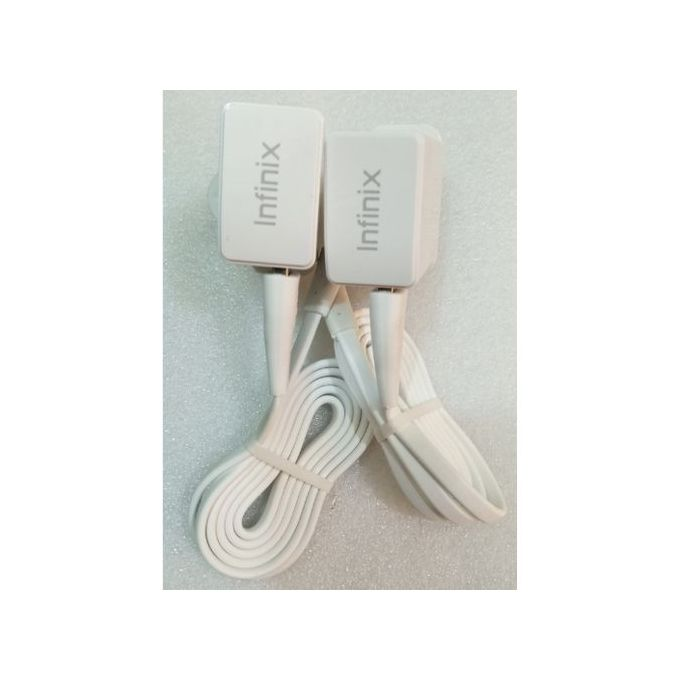 Infinix Charger, Two Chargers & Two USB - White. | Horezone