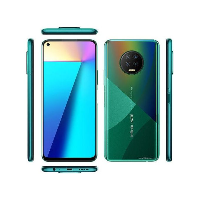Infinix Note 7 (X690), 6.95'' 64GB 4GB RAM, 48MP + 2MP + 2MP + 2MP, Android 10, 5000 MAh, Dual SIM 4G LTE - Forest Green