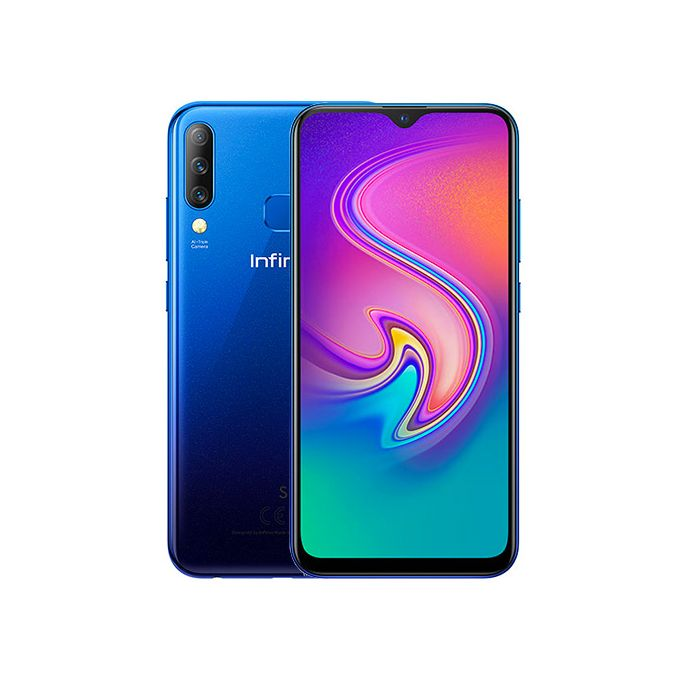 "Infinix S4 6.2""HD+ Water-drop (32GB ROM+3GB RAM) 13MP+8MP+2MP 32MP FF, Android 9pie, 4000mAh Battery- Nebula Blue"