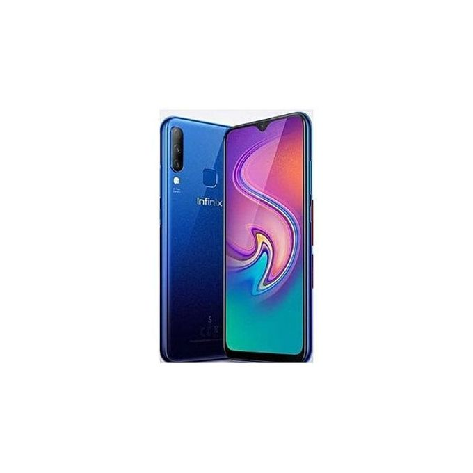 Infinix S4 (X626B) 6.2-Inch HD+ Water Drop (3GB,32GB ROM) Android 9 Pie, 13MP+8MP+2MP Triple Rear Camera 32MP AI 4000mAh Dual SIM 4G Smartphone | Horezone