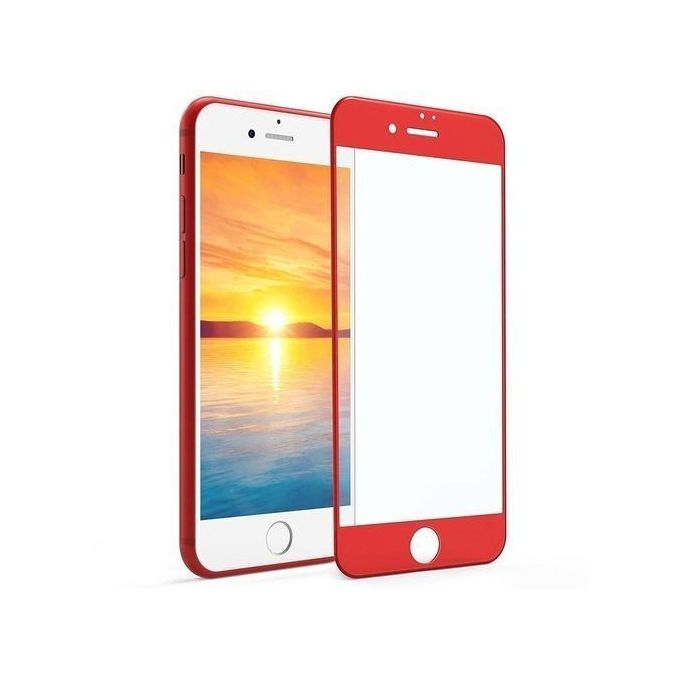 Iphone 8, Screen Protector - Red