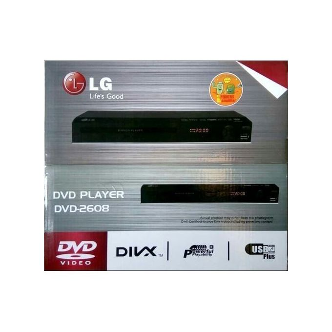 LG DVD Player DV 2608 USB Black