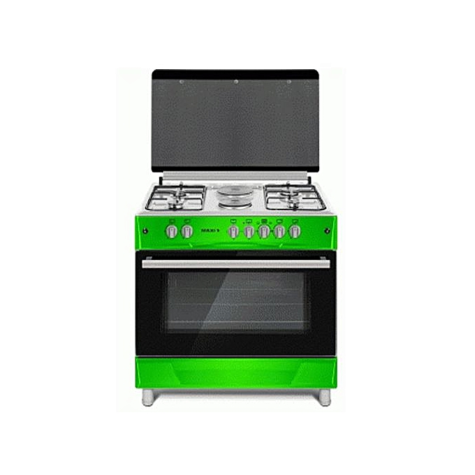 Maxi 90x60cm 4 Gas+2 Electric Hot Plate Cooker 60*90 (4+2 )GREEN