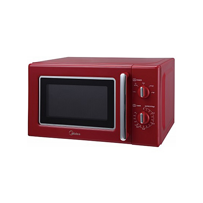 midea microwave 20l shinny red