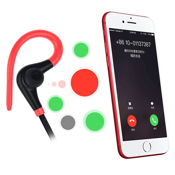 Neckband Bluetooth Earphone Wireles Headphone Sport For Xiaomi IPhone Earbuds Stereo Fone De Ouvido With MIC(#Black)   Horezone