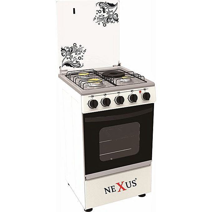 Nexus 4-Burner Gas Cooker GCCR-NX-5055B (3 + 1)