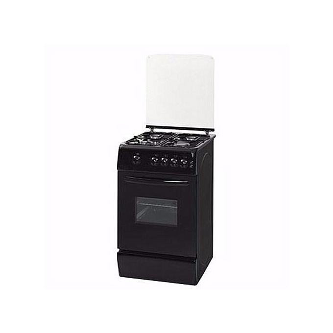 Nexus 4-Burner Gas Cooker GCCR-NX-5055B (3 + 1) - Black.