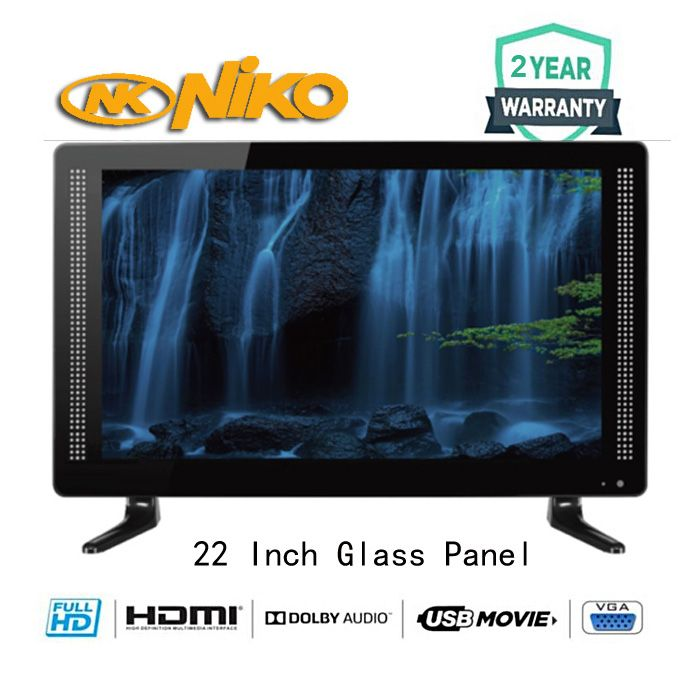 Niko 22 Inch LED TV With 2 Year Warrant And Free Wall Bracket