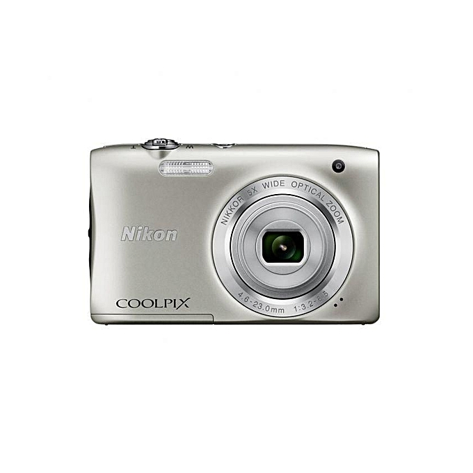 Nikon Coolpix S2900 20.1MP Digital Camera (Silver) + Free 8GB SD Card