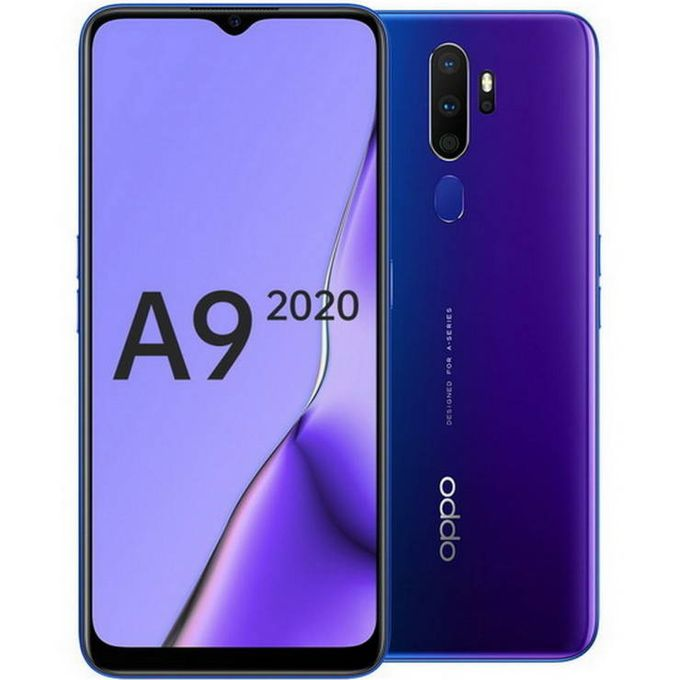 Oppo A9 2020, 6.5 Inches, 8GB RAM 128 GB ROM,48MP+8MP+2MP+2MP Android 9.0, 5000mAh Battery. Space Pulple