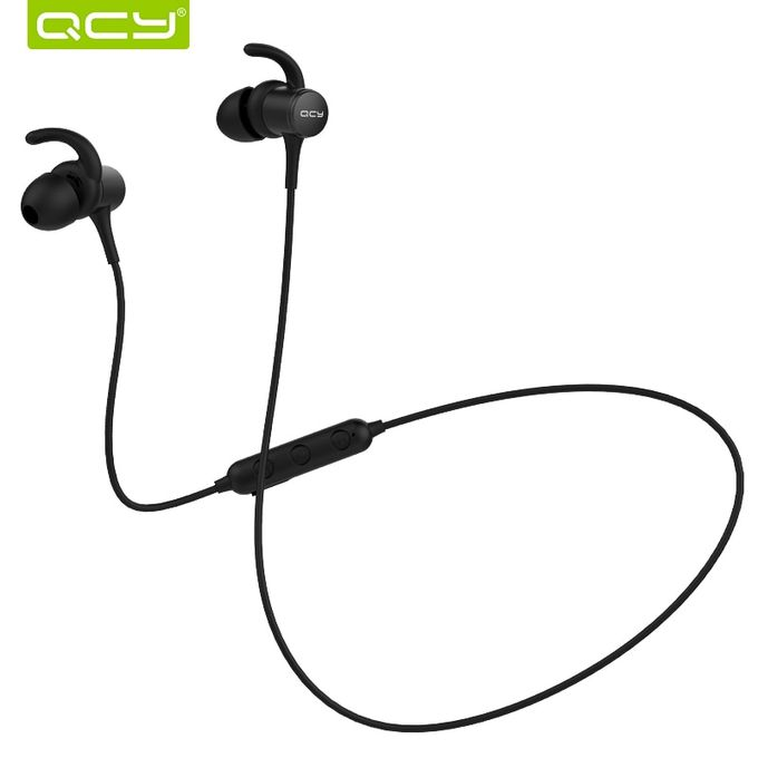 Qcy QCY M1S Magnetic V4.2 Chip Bluetooth Headphone IPX5-rated Sweatproof Wireless Earphone Sport Ear Hooks Headset With Microphone(#Black)