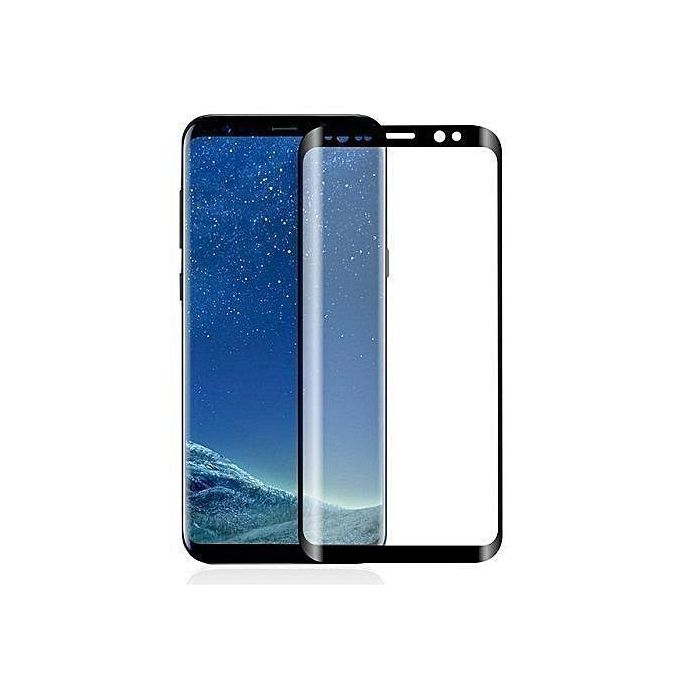 Quality,Thick Tempered Glass For Galaxy S9 -Black