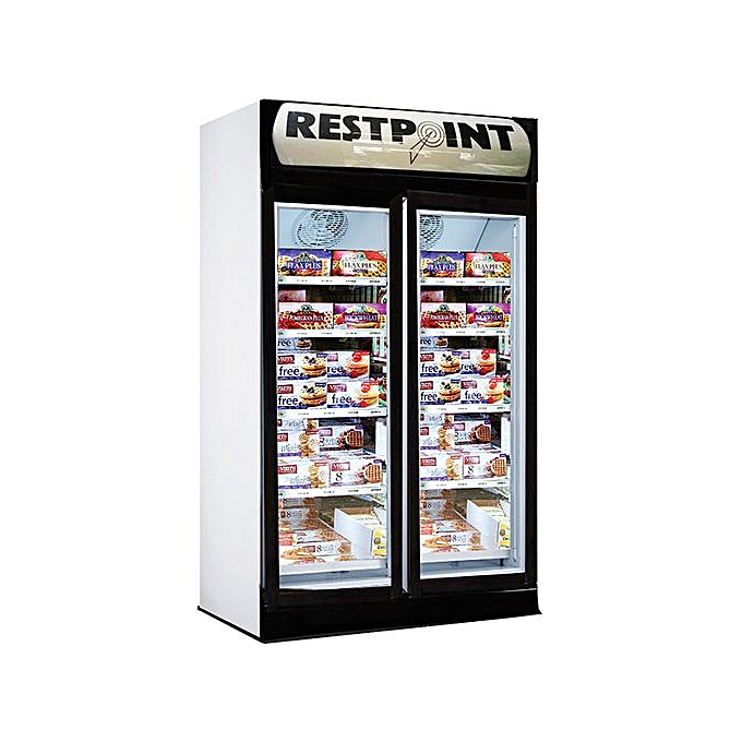 restpoint bar show glass fridge 350L with perfect exterior design