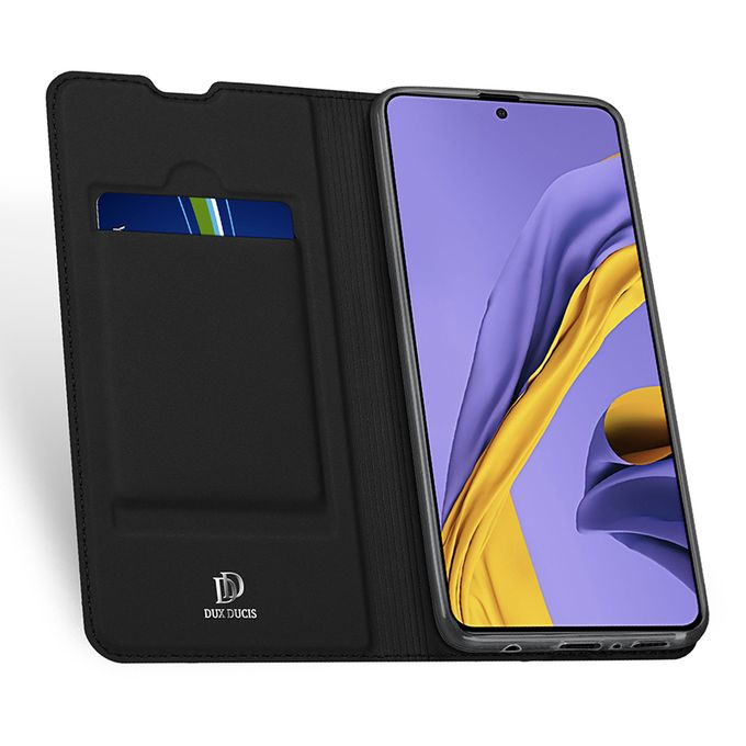 Samsung Galaxy A51 Leather Case With Card Slot - Black | Horezone
