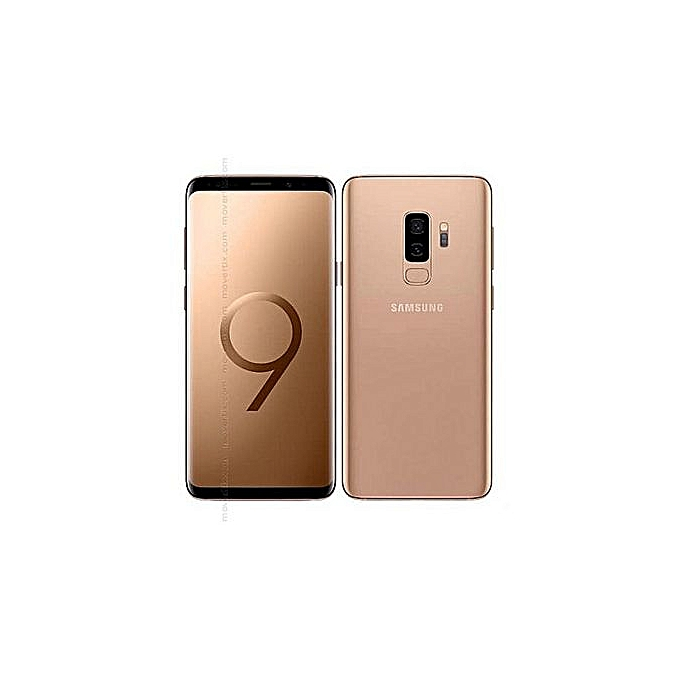 Samsung Galaxy S9 Plus (S9+) 6.2-Inch (6GB, 128GB ROM), 12MP + 8MP Dual SIM 4G Smartphone - Gold + Standard Back Case And Screen Protector   Horezone