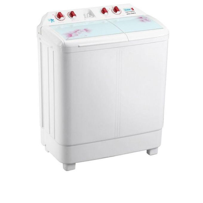 Scanfrost 6.8kg Twin Tub Semi-Automatic Washing Machine - SFSANTTD6.- White