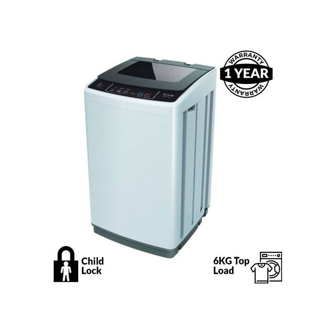 Scanfrost 6kg Fully Automatic Top Loading Washing Machine- Sfwmtlzk