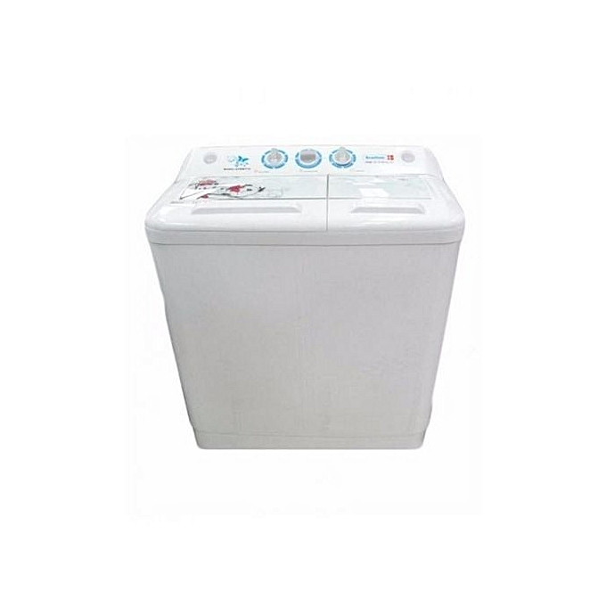 Scanfrost SFWM TL2K Twin Tub Semi-Automatic Washing Machine - White