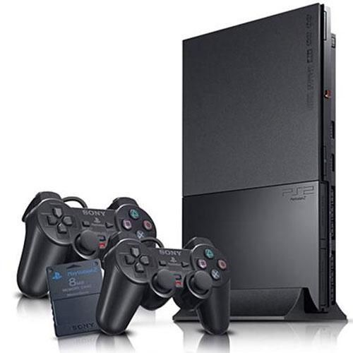 Sony PS2 Slim Console + 2 Controller And 15 Downloaded Games