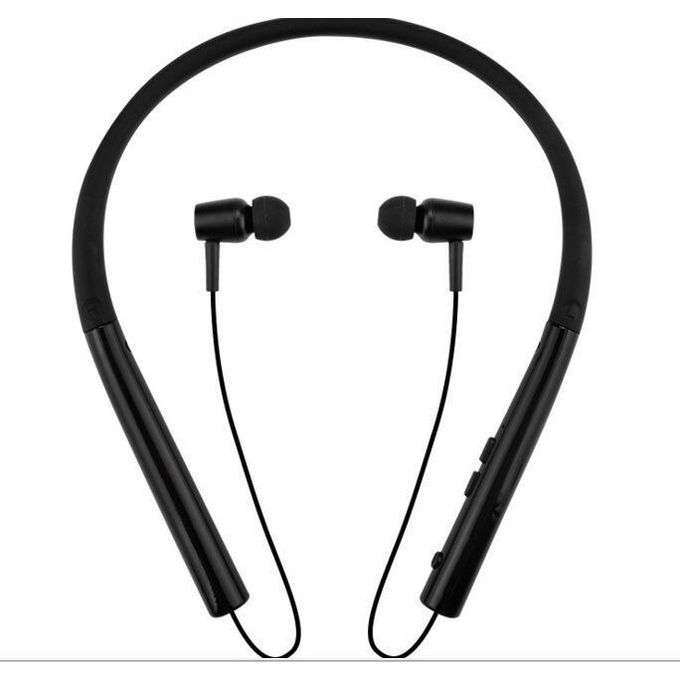 Sports Running Bluetooth Earphone HIFI Handsfree Wireless Headphone With Microphone For Smartphone Neck-band Earphone Bluetooth Headphones - Black