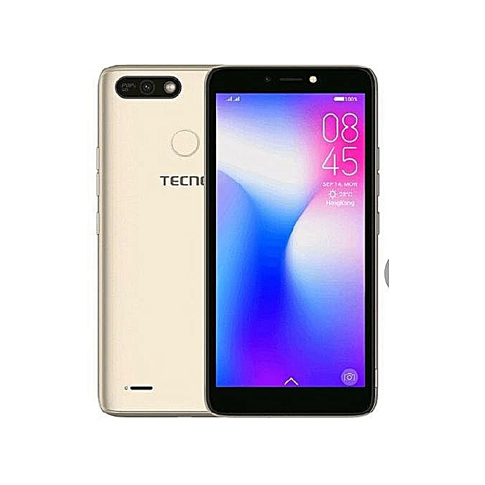 "Tecno POP 2 POWER( B1P) -5.5"" ,16GB+1GB ,8MP+5MP Camera With Flash,Battery 4000mAh,Fingerprint- Champagne Gold"