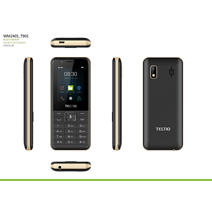 Tecno T901 Support Whatsapp,Youtube,Facebook,Kaistore, 3G, 512MB ROM, 256MB RAM First KaiOS Smart Feature Phone,1900mAh