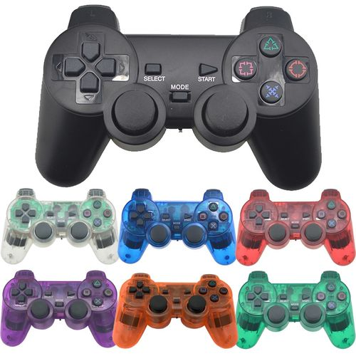 Transparent Color Bluetooth Wireless Controller For Sony Playstation 2 Gamepad 2.4G Vibration Controle For Sony PS2 Joystick | Horezone