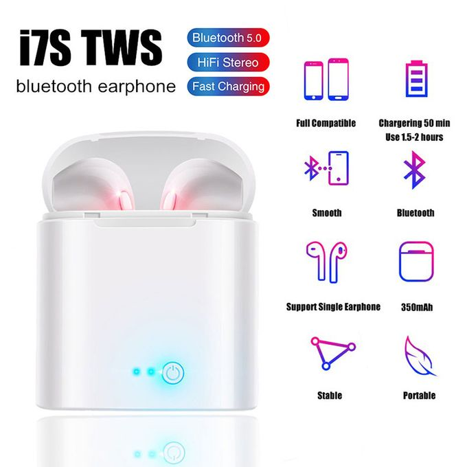 Wireless Earpiece Earphones Sport Earphone Bluetooth Headset-white | Horezone