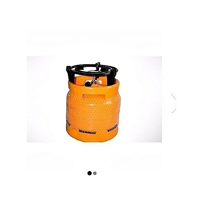 yellow camping gas cooker full 5kg made of synthetic iron
