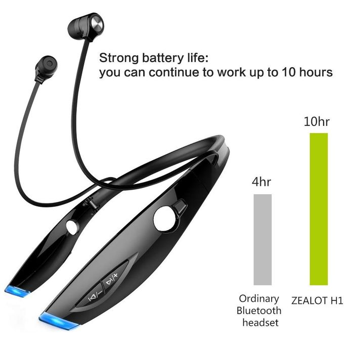 Zealot H1 Wireless Bluetooth Sports Earphones Neckband Headset In-ear Headphones Earbuds Earpiece For Sports Running Gym Exercise Multiple Function,